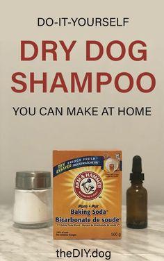 Dry Dog Shampoo, Homemade Dog Shampoo, Natural Dog Shampoo, Homemade Conditioner, Shampoo Bar, Dog Treat Recipes, Dog Food Recipes, Akita, Smelly Dog