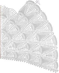 crochet pineapple skirt diagram | Crochet Pineapple Lace - Women's Cape