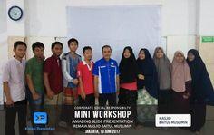 """CSR Mini Workshop """"Amazing Slide Presentation"""" bersama Remaja Masjid Baitul Muslimin, Jakarta 10 Juni 2017"""