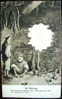 First World War Postcard by Bruce Bairnsfather, Cartoon Museum
