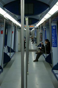 Madrileños en el Metro