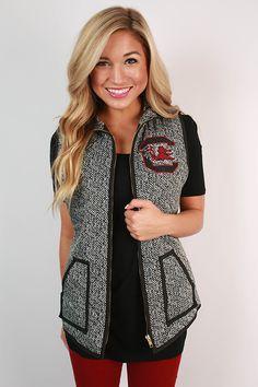 University Of South Carolina Herringbone Vest