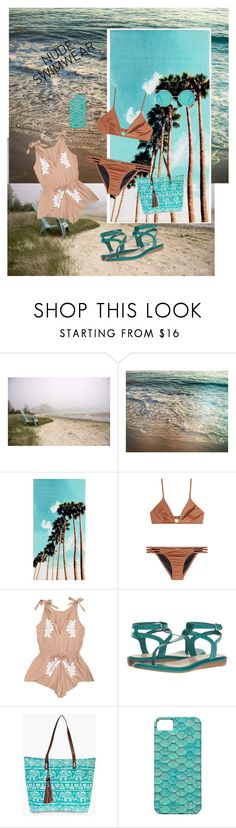 """go nude"" by ddluv422 ❤ liked on Polyvore featuring PBteen, Melissa Odabash, Nine West and Boohoo"