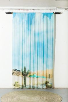 Katie Stout Desert Curtains, 2012 Digital Print on Silk, 3D Printed Ceramics