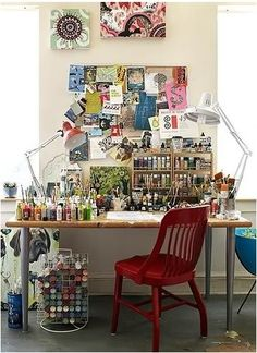 how to make a small art studio at home
