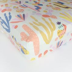 Girls Crib Bedding Boho Fitted Crib Sheets / Cactus by Babiease