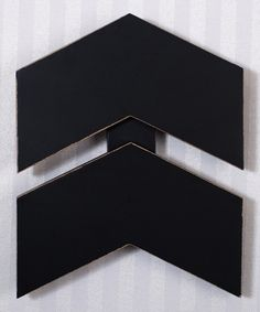 Look at this Black Chevron Wall Art on #zulily today!