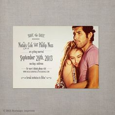 Save the Date Magnets  the Nataly by NostalgicImprints on Etsy