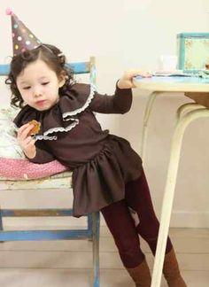 Kids Toddlers Large Collar Princess Dress Girl Long Sleeve Dress Size 1 6 Years | eBay
