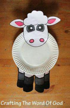 cute and simple lamb craft will be a great add-on to any Bible lesson. It can be used for: Cain and Abel's offerings to God. Kids Crafts, Sheep Crafts, Toddler Crafts, Preschool Crafts, Easter Crafts, Dinosaur Crafts, Preschool Christmas, Christmas Paper, Christmas Crafts