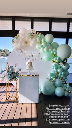 18th Birthday Party Themes, Birthday Party Design, Birthday Themes For Boys, Birthday Balloon Decorations, Baby 1st Birthday, Birthday Balloons, Baby Shower Decorations, Deco Ballon, Decoration Evenementielle