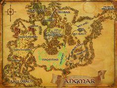 LOTRO map of Angmar
