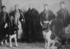 Emperor Taisho pictured with 2 of his Akitas in 1899