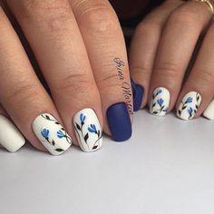 Nail Designs for Short Nails 2018 25 Cute Short Nail Design Ideas Cute Short Nails, Long Nails, Cute Nails, Pretty Nails, Ideas For Short Nails, Short Nail Designs, Cute Nail Designs, Flower Nail Designs, Nail Designs Spring