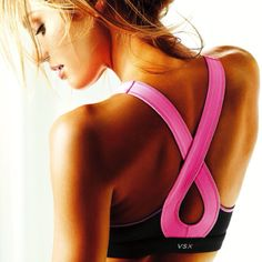 Actually really want this sports bra. So cute, love the pink breast cancer ribbon!