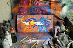 Hey, I found this really awesome Etsy listing at https://www.etsy.com/listing/264511075/denver-broncos-3-canvas-painting