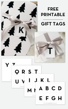 You may have noticed these simple, modern alphabet gift tags I used for my most recent Shutterfly post! Well, I finished all of the letters and they are ready for you to download! Download + print  the modern alphabet gift tag designs here!