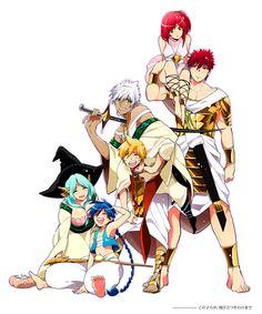 Magi, the Labyrinth of Magic ~ Yamuraïha & Aladdin, Sharrkan & Alibaba, Masrur & Morgiana !