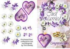 A really nice 3D card for the newly married couple. Very easy to make.