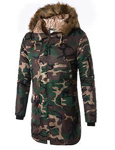 RDHOPE-Men Full Zip 2-Piece Athletic Camouflage Color Tracksuit Jog Set Light Grey L