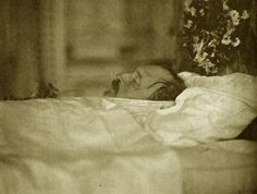 Prince Albert on his deathbed.1861.