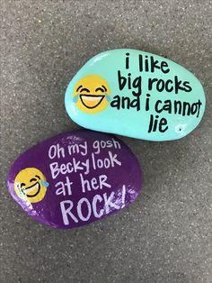 I like big rocks and I cannot lie! #rockpainting