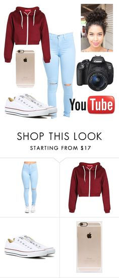"""""Little brown girl is out !""-Liza Koshy"" by kyla-figgs ❤ liked on Polyvore featuring Converse, Incase and Eos"
