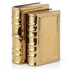 Home Decor Accessories, Decorative Accessories, Kawaii Accessories, Decorative Objects, Gold Book, Gold Aesthetic, Stylish Home Decor, Color Dorado, Home Accents