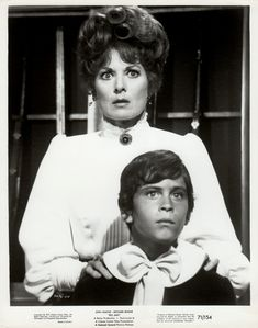 Maureen O'Hara As Martha McCandles And Ethan Wayne As Little Jake McCandles In Big Jake 1971