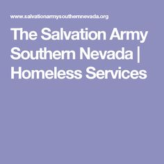 The Salvation Army Southern Nevada   Homeless Services