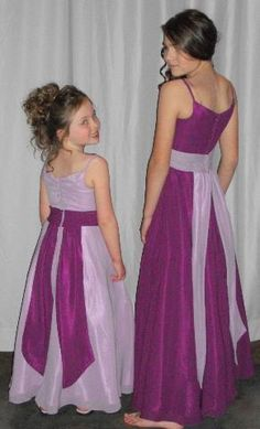 Not exactly the shades I have in mind. However, I do want the bridesmaids in dark purple with lavender accents, and the Jr. bridesmaids and flower girls in lavender with dark purple accents.