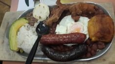"""Bandeja Paisa"" Tipical Food in #Medellin."