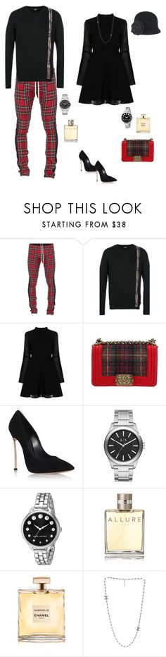 """""""Here We Go"""" by lalalace-1 ❤ liked on Polyvore featuring Fear of God, Fendi, Boohoo, Chanel, Casadei, Armani Exchange, Marc Jacobs, Karl Lagerfeld, men's fashion and menswear"""