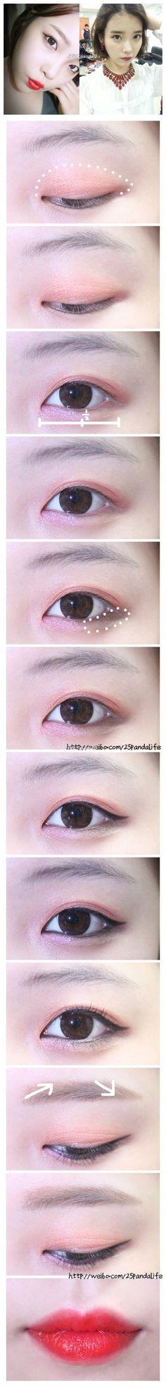 Korean make up Asian Makeup Looks, Korean Makeup Look, Asian Eye Makeup, Makeup Inspo, Makeup Inspiration, Makeup Tips, Beauty Makeup, Korean Makeup Tutorials, Beauty Tutorials