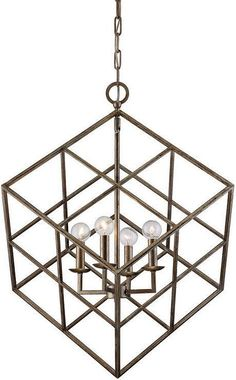 The Savoy House Halston Pendant Light adds a geometric touch to your home. Its sturdy, cube-shaped frame is available in your choice of finish. The light sources suspend from the inside of this modern frame. Bronze Pendant Light, Large Pendant Lighting, Contemporary Pendant Lights, Modern Pendant Light, Globe Chandelier, Lantern Pendant, Modern Chandelier, Rectangular Chandelier, Large Lanterns