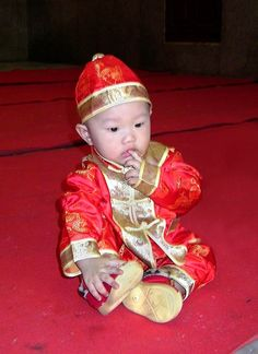 Chinese New Year Baby My sister had an outfit like this when we adopted her (: