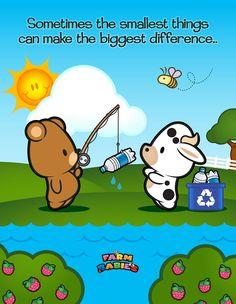 Farm Babies / #kawaii #cute #love #quotes #illustration #baby #farm #recycling #environment