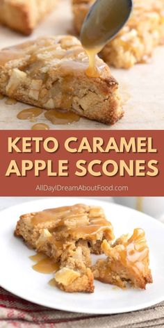 Low Carb Sweets, Low Carb Desserts, Low Carb Recipes, Real Food Recipes, Cooking Recipes, Fall Breakfast, Low Carb Breakfast, Apple Scones, Keto Friendly Desserts
