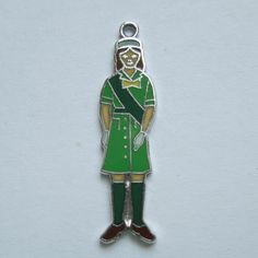 Sterling Silver and Enamel Girl Scout Charm