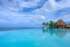 The stunning adults only Infinity Pool at the Fiji Marriott Resort Momi Bay