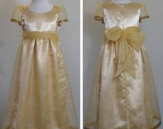 Rapunzel Dresses for your Little Girls Aged 2-8 by SerendipityGDDsShop Rapunzel Dress, French Seam, Gold Ribbons, Gold Dress, Special Occasion Dresses, Little Girls, Bodice, Flower Girl Dresses, Trending Outfits
