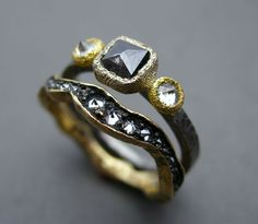 www.tapbytoddpownell.com/  18k Gold, 950 Palladium, Black and White Diamonds by Todd Pownell