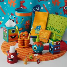 Jumping Beans Monster Bath Accessories, I want them in my bathroom