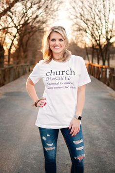 Church Definition - Women's T-Shirt – Ruby's Rubbish® Christian Clothing, Christian Shirts, Christian Apparel, Cute Tshirts, Cool T Shirts, Vinyl Shirts, Tee Shirts, California Shirt, Jesus Shirts