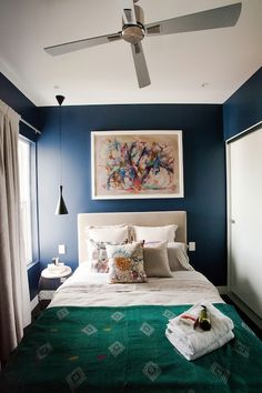 the block | i love the richness of colour and layered textures in dan and dani's guest bedroom