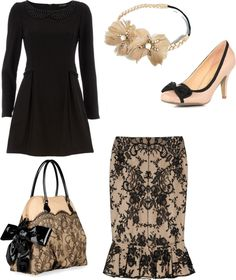 """""""Pink and black elegant"""" by apostolicsista on Polyvore"""