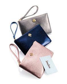 kate spade new york glitter bug wristlet clutch bags  Neiman Marcus