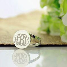 Engraved Initial Rings