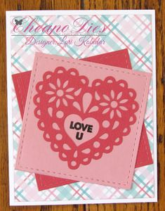 Lori's Kreations: Cheapo Dies Heart Doily Paper Light, Romance And Love, Pink Paper, Distress Ink, Loving U, Doilies, Card Stock, Valentines, Stamp