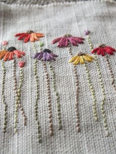 Wonderful Ribbon Embroidery Flowers by Hand Ideas. Enchanting Ribbon Embroidery Flowers by Hand Ideas. Embroidery Designs, Basic Embroidery Stitches, Silk Ribbon Embroidery, Crewel Embroidery, Embroidery Techniques, Floral Embroidery, Cross Stitch Embroidery, Hand Embroidery Flowers, Embroidery Supplies